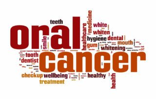 april is oral cancer awareness month in big red text