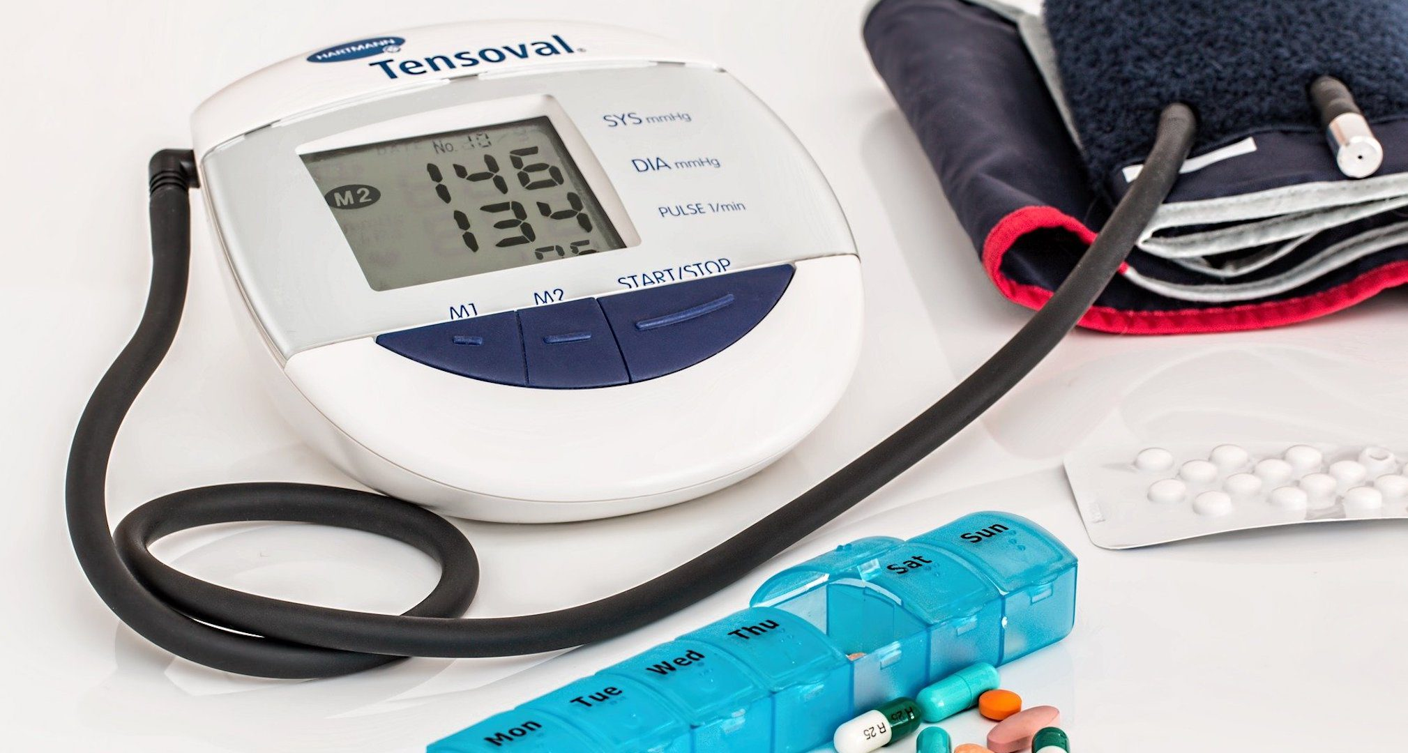 blood pressure cuff and medication