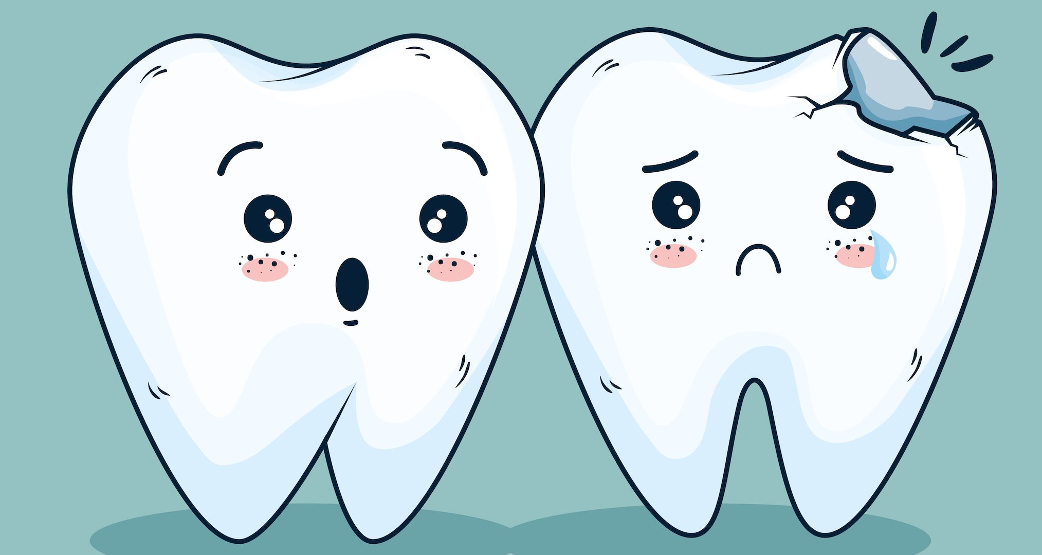 cartoon of teeth